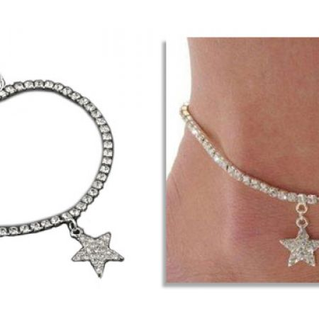 Strass Star Anklet For Women