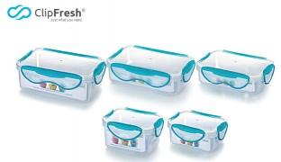 ClipFresh Blue Classic Series Rectangular Food Storage - 0.4 L