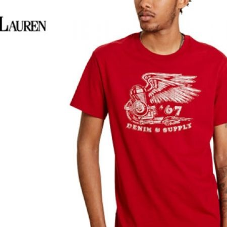 23a8e53767 Ralph Lauren Red Cotton Jersey Graphic Tee For Men