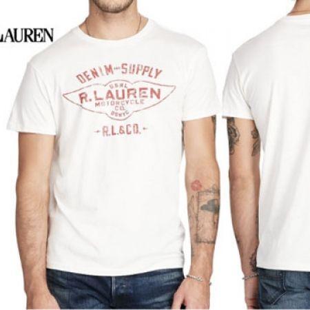 e63fbaa8c19600 Ralph Lauren White Cotton Jersey Graphic Tee For Men - Medium - Makhsoom