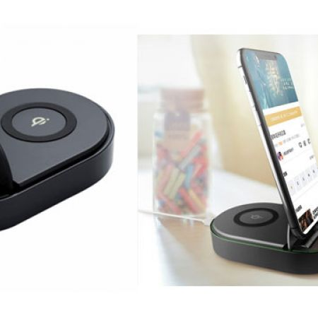 Totu Black Qi Fast Wireless Charger With Dock
