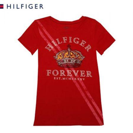 Tommy Hilfiger Red Hilfiger Forever T-Shirt For Women Size: Medium