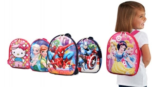 Fully Padded Polyester 3D School Bag For Kids - Hello Kitty