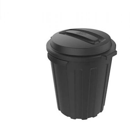 Ezy Outdoor Black Dome Bin 49.5 x 46 x 57 cm