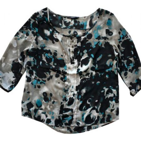 Loose Multicolored Flowy Chiffon Top For Women One Size