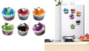 Refrigerator Magnet Ice Cream Model - Purple