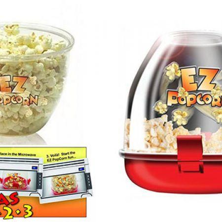 EZ Popcorn Microwave Popcorn Maker