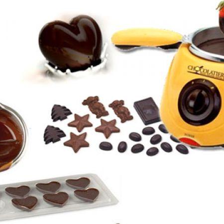 Chocolatiere Yellow Electric Chocolate Melting Pot 20 W