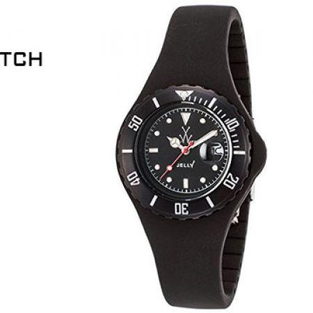 ToyWatch Black Silicone Quartz Analogue Display Round Watch For Women
