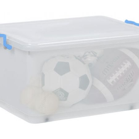 Transparent Large Solutions Storage Tub With 6 Wheels 50 L