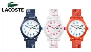 Lacoste 12.12 Rubber Strap Round Watch For Kids - Blue