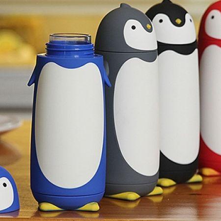 Penguin Thermos - Grey