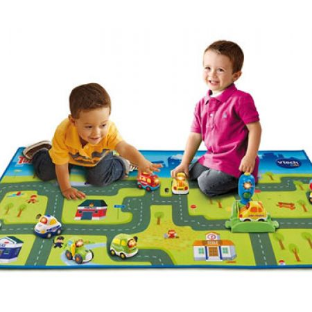 Vtech Tut Tut Boldies Giant Road Carpet 122 x 67 cm - French