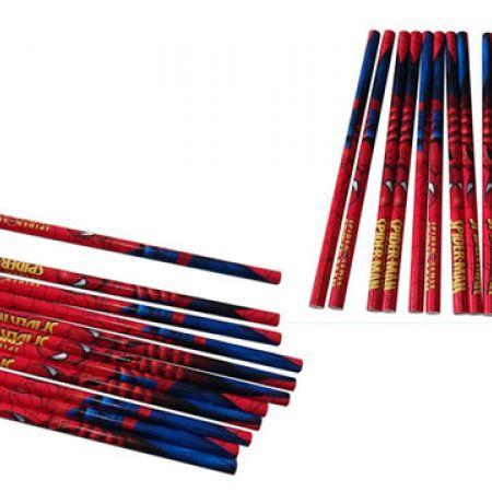 Set Of Spider Man 2B HB Pencil 12 Pcs