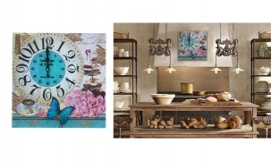 Vintage Inspired Antiquite De Paris Kitchen Wall Clock 39 x 39 cm