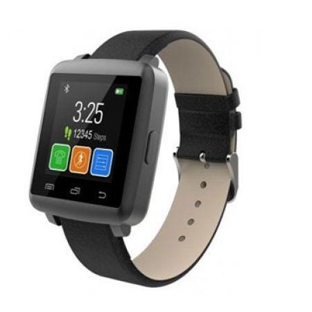 "O-Player 1.44"" Black Digital Touch Screen Smart Watch"