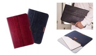 Totu Gentleman Series Portfolio Leather Laptop Bag For iPad Pro 12.9 inch - Black
