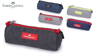 Faber Castell Small Pencil Case 1-Compartment - Black/Jeans