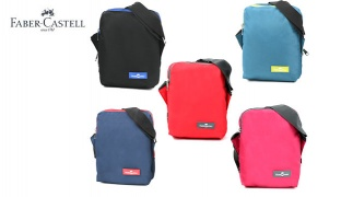 Faber Castell Insulated School Lunch Bag 2-Compartment - Petrol Blue/Green Zipper