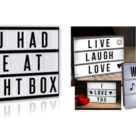 Decorative LED Display Lightbox With 84 Letters & Symbols