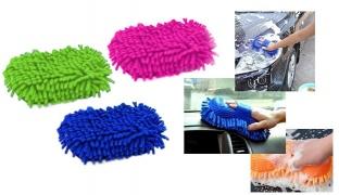 Microfiber Chenille Sponge 15 x 11 cm - Blue