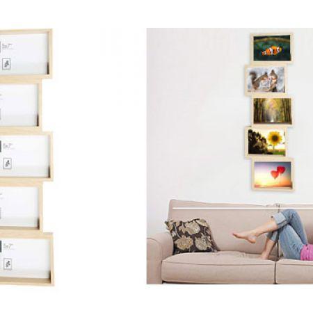 Stack Collage Frame 5 Frames 54 x 21.5 x 3.8 cm