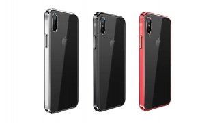 Joyroom Back With Colored Border Mobile Cover For iPhone X - Black