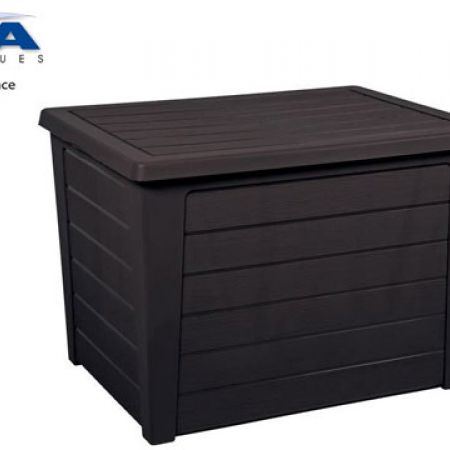 EDA Plastics Anthracite Baya Chest Storage Box 72.5 x 54.2 x 51 cm