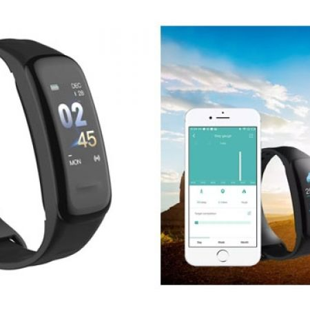 Wearfit Black Smart Fitness Wristband For iOs & Android