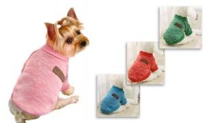 Classic Soft Cute Pet Winter Coat 42 x 28 cm - Blue
