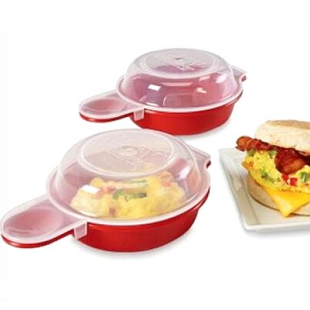 Set Of Easy Eggwich Microwave Egg Cooker 2 Pcs
