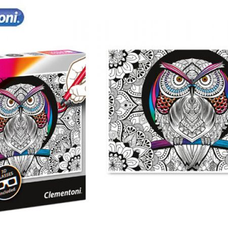 Clementoni 3D Color Owl Therapy Puzzle With 3D Glasses 500 Pcs