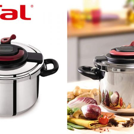 Tefal Clipso Silver Stainless Steel Pressure Cooker 10 L P4371563