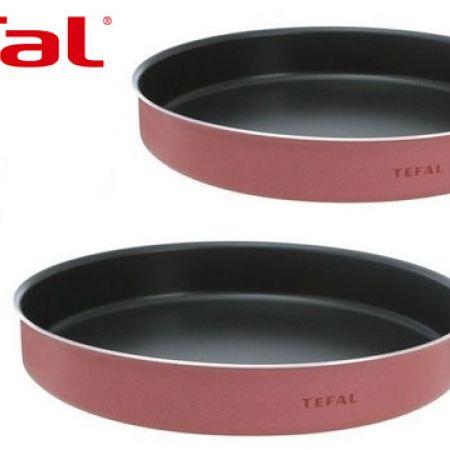 Tefal Set Of Black & Red Kebbe Oven Dish 2 Pcs 28 - 30 cm J1196685