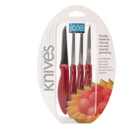 Joie Set Of Red Flex Paring Knife 4 Pcs