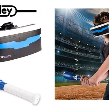 Manley VR Real Feel Virtual Reality Baseball Gaming System With Bluetooth  Bat & Headset Goggles Viewer Glasses For iOS iPhone & Android