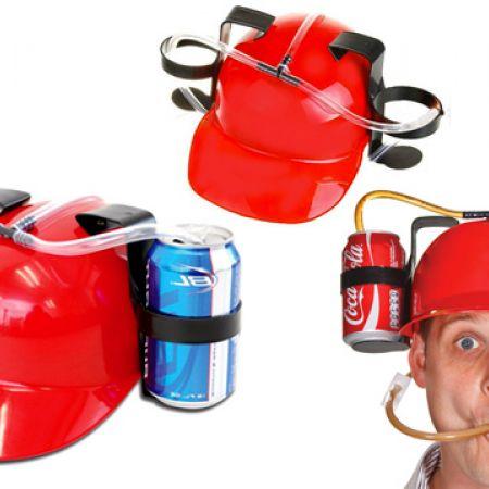 Drinking Red Helmet Beverage Hat