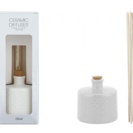 Ceramic Diffuser Vanilla & Pear Scented With Sticks 150 ml
