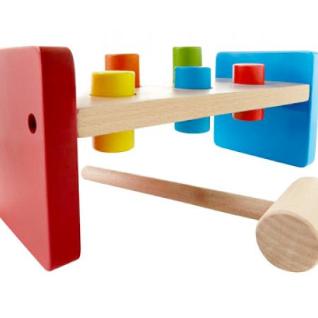 Kids & Co Wooden Hammer Peg Bench