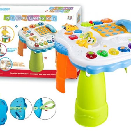 Multifunctional Intelligence Learning Table With Telephone