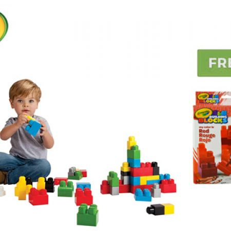 Crayola Building Blocks 100 Pcs With Free Buildng Blocks My Color Is Red 20 Pcs