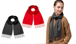 Cashemere Scarf For Women - Black