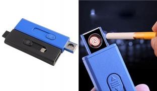 Flameless Electronic USB Lighter - Black