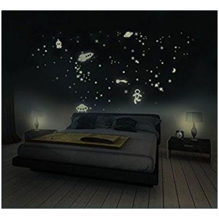 Glow In The Dark Stars Wall Stickers 9 Pcs