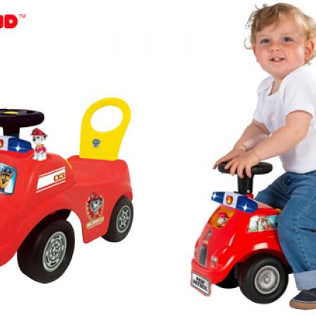 Kiddieland Paw Patrol Marshall Activity Fire Truck Ride On With Flashing Lights Realistic Sounds
