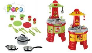 Faro Lagostina Kitchen Playset With Metal Pans 107 cm - Green