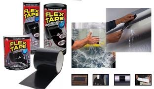 """Flex Tape Black Rubberized Waterproof Tape - 4"""""""