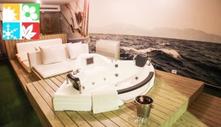Weekday Night Stay For Two in a Yacht Bungalow With Hot Tub