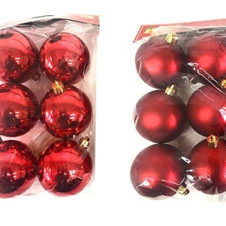 Christmas Ball Ornaments.Set Of Medium Simple Christmas Ball Ornaments 6 Pcs