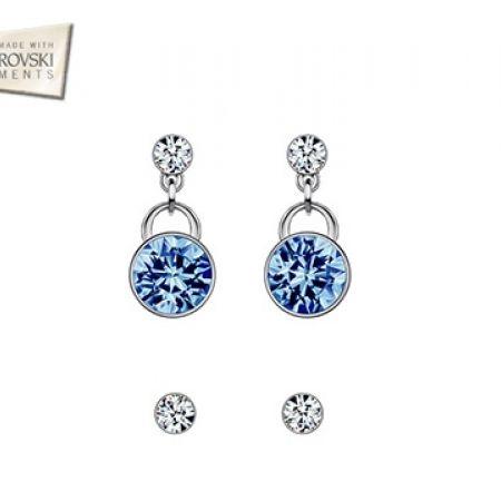 Swarovski Elements Blue Earrings